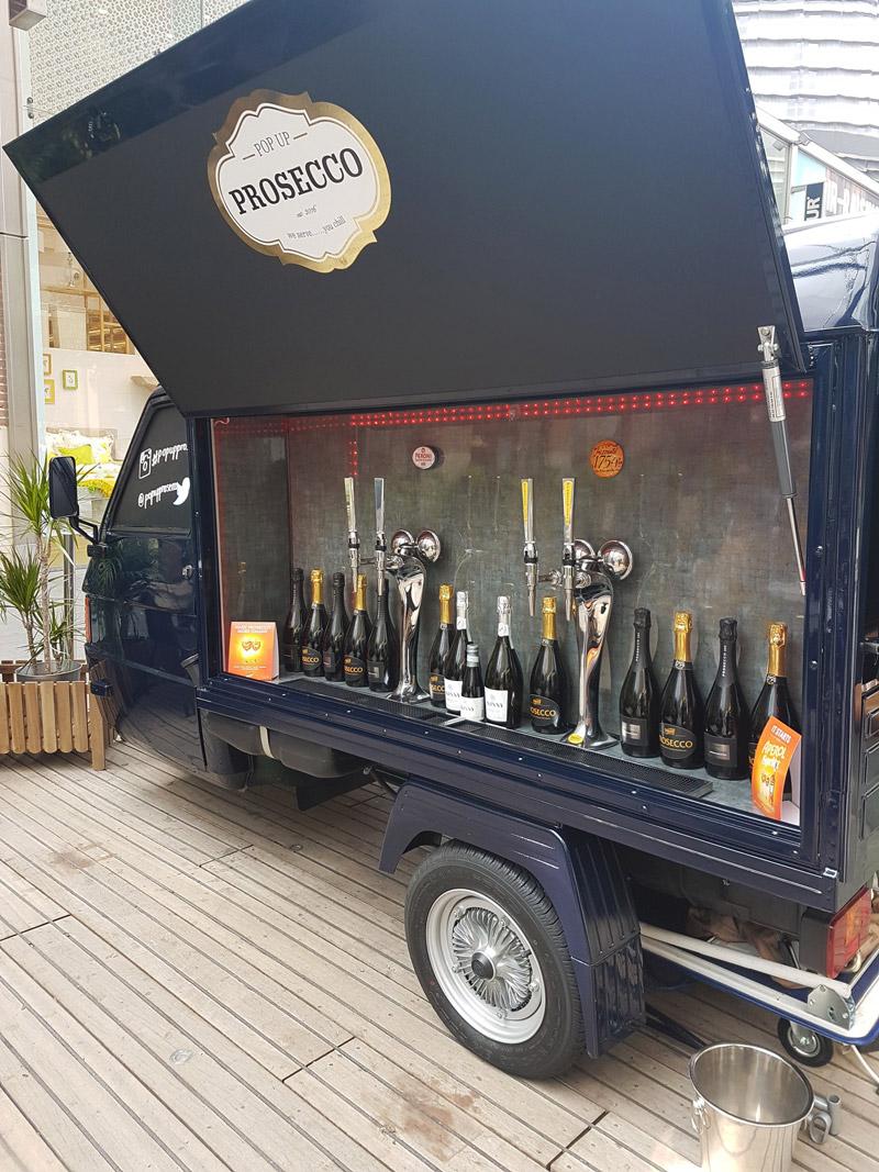 Mobile bar in London