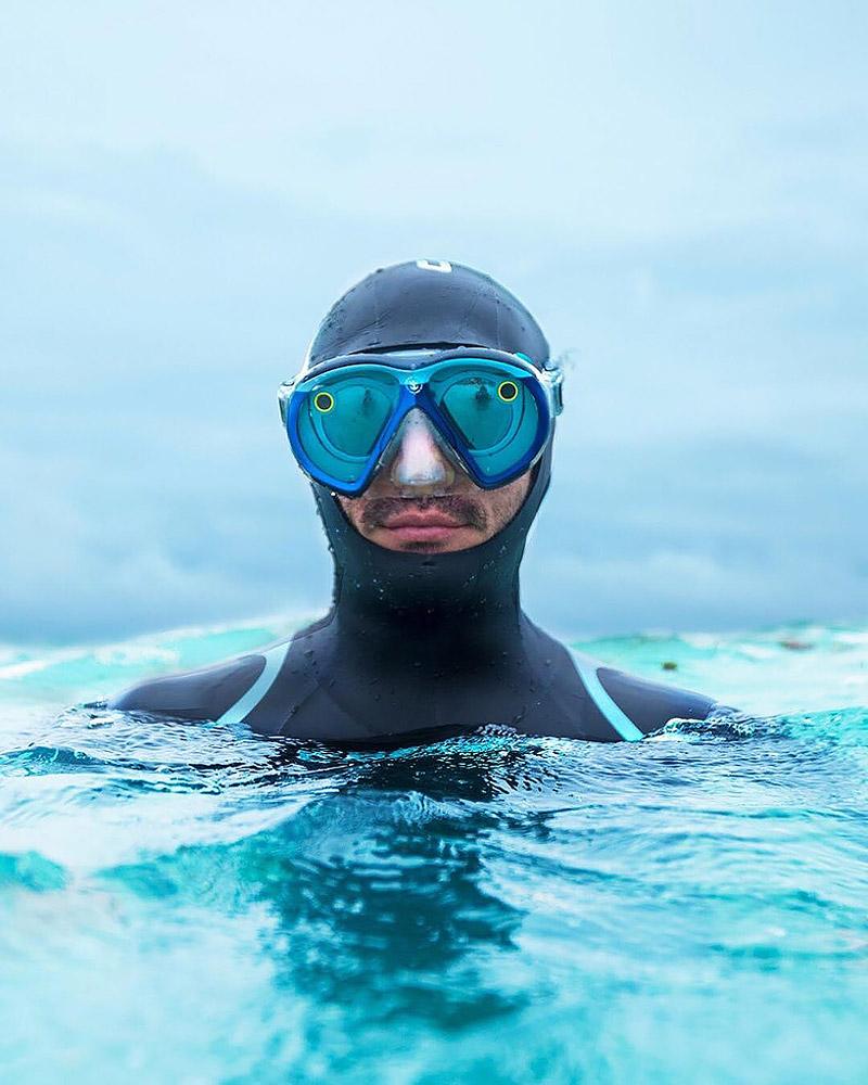 Snapchat scuba mask