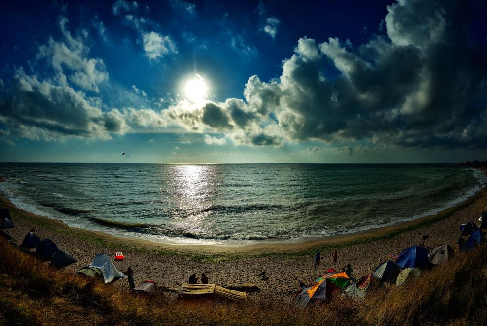 Beach camping in Vama Veche