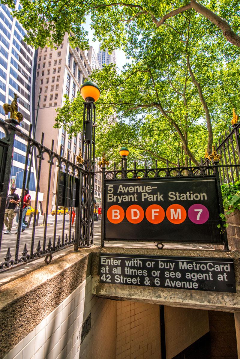 Subway station in Manhattan