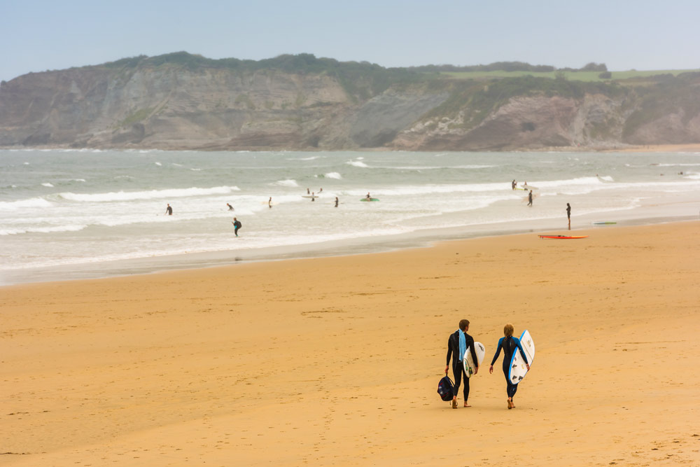 Surfing in French Basque Country