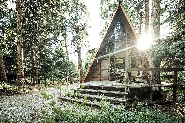 A-frame cabin in California