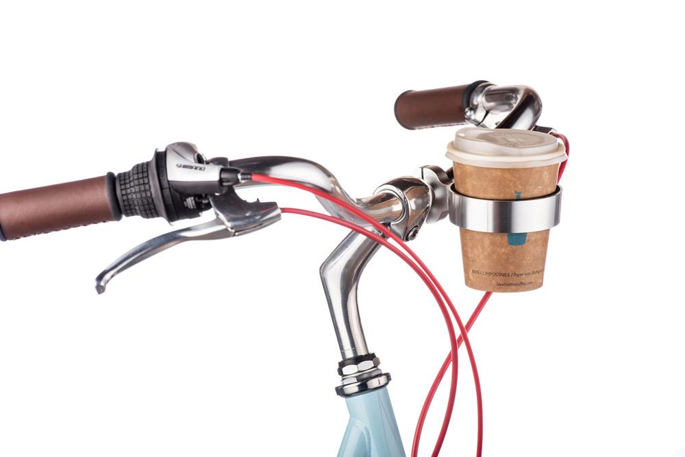 Bike coffee cup holder