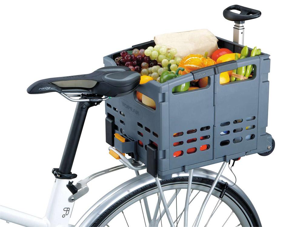 Folding bicycle basket