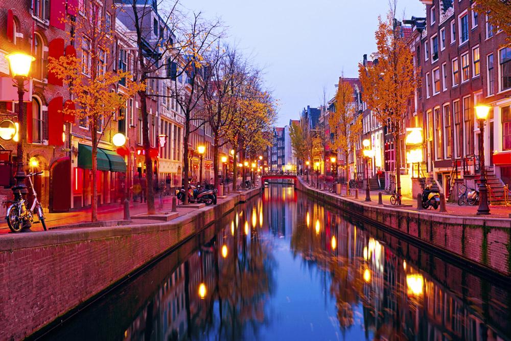 Autumn evening in Amsterdam