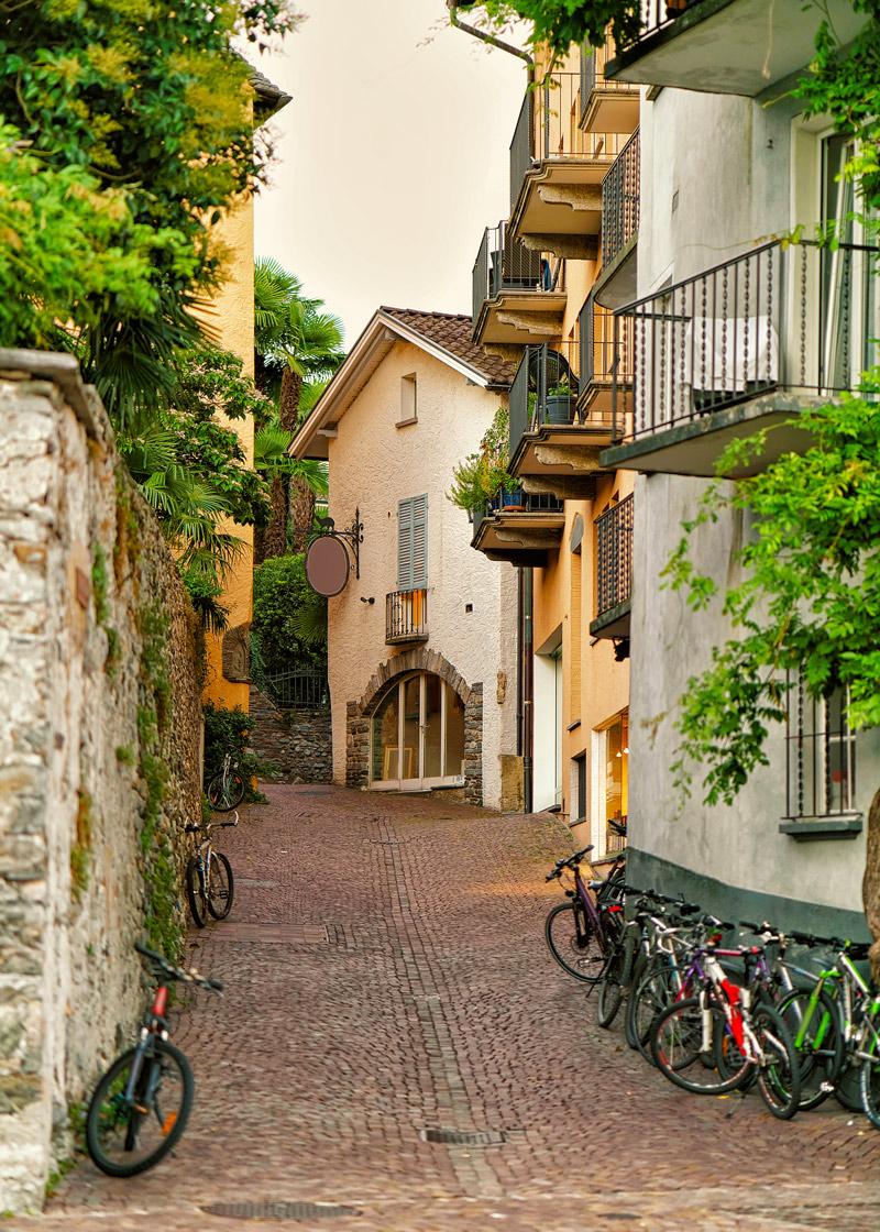 Picturesque town in Switzerland