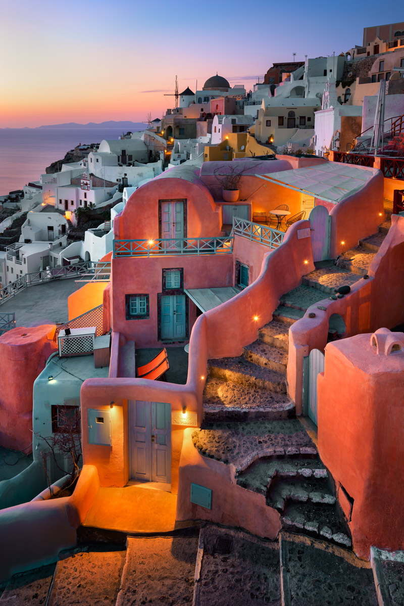 Pink building in Greece