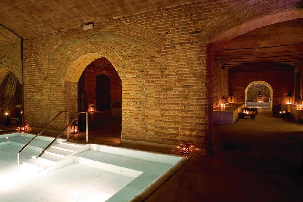 Roman and Arab baths in Barcelona