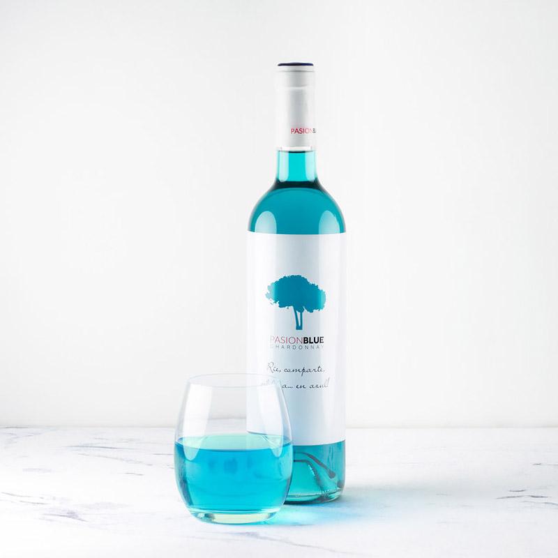 Blue wine gift