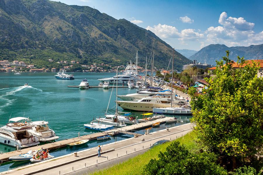 Yachts in Kotor Bay