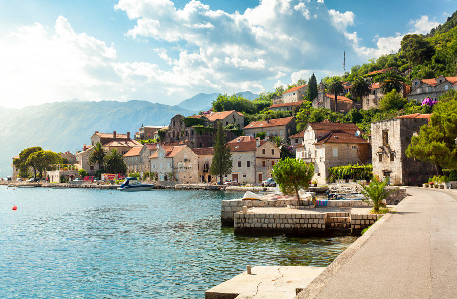 Old town near Bay of Kotor