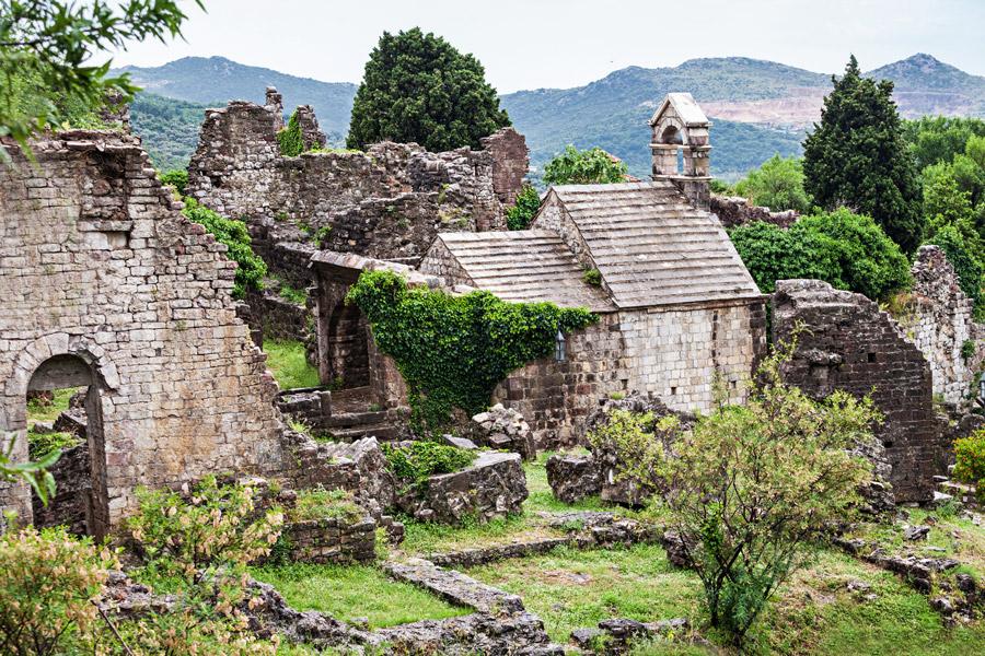 Ancient ruins at Bar Stari Grad