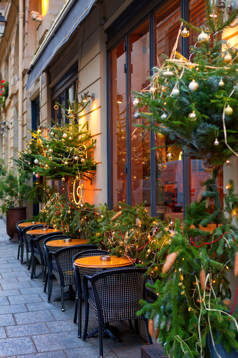 Small Parisian restaurant