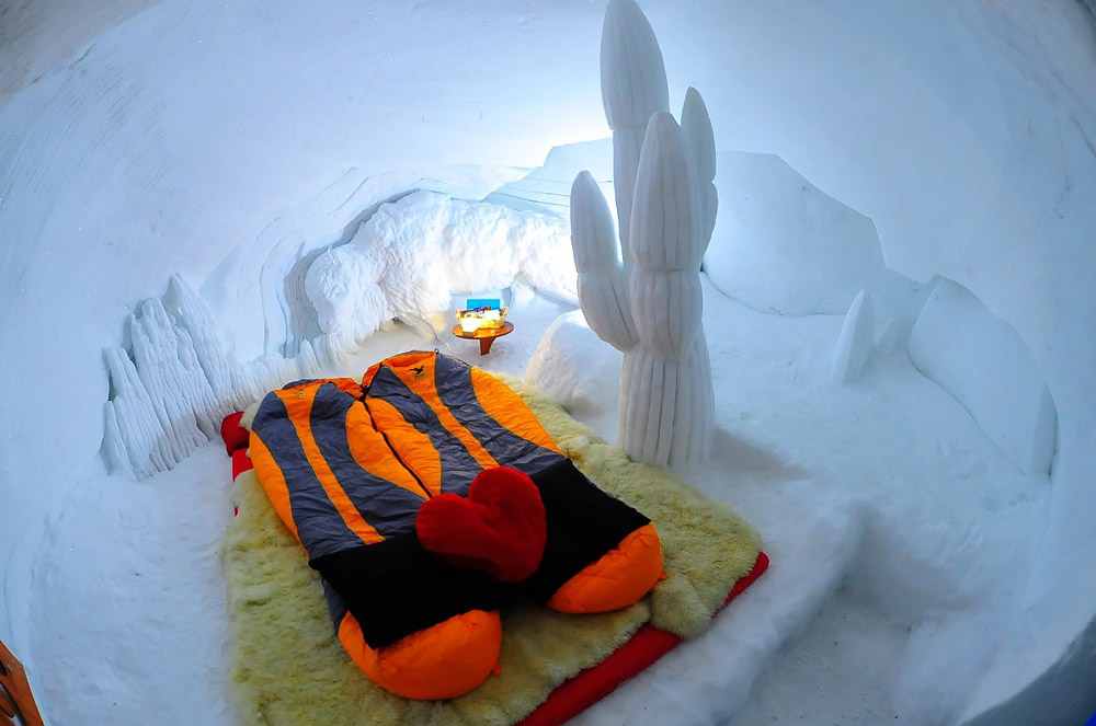 Ice hotel in Europe