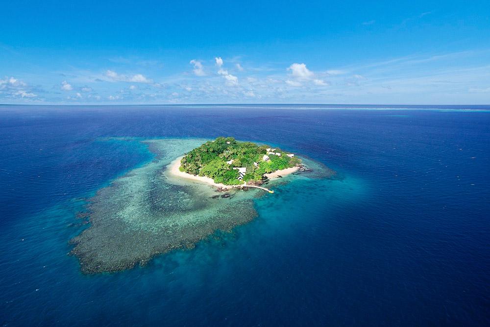 Romantic island in Fiji