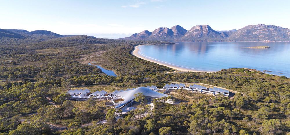 Futuristic structure in Tasmania