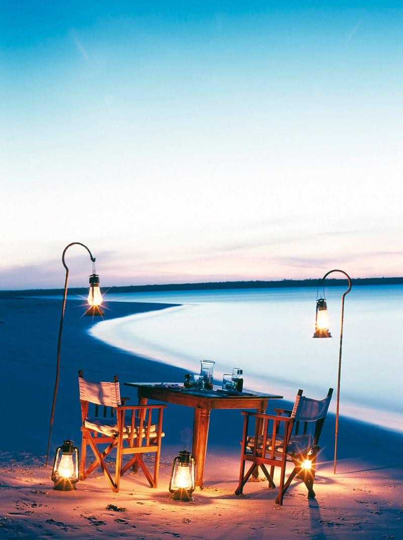 Beach dinner in Zanzibar