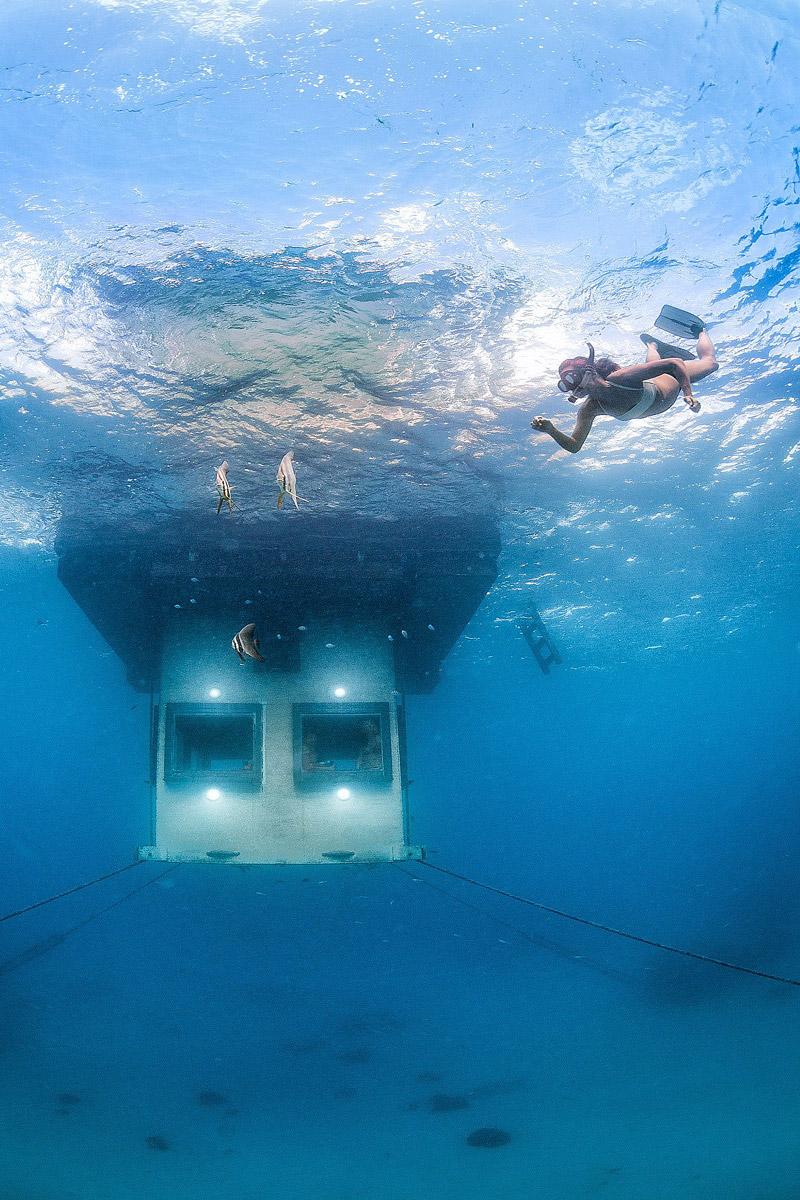 Underwater room in Tanzania