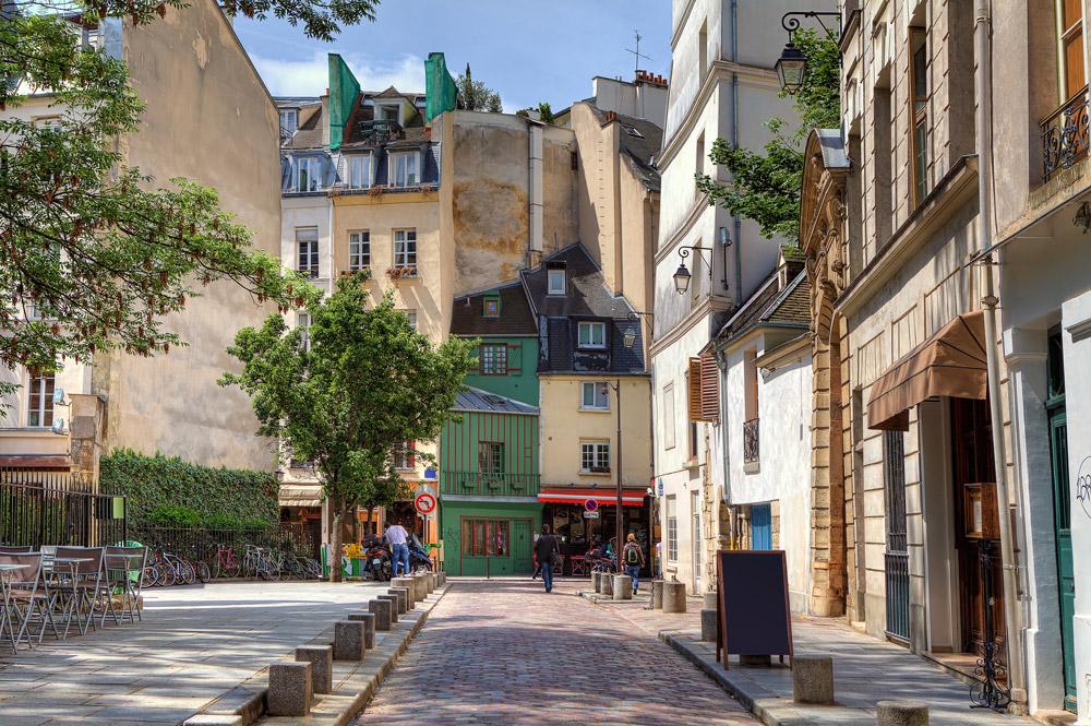 Beautiful street in Paris