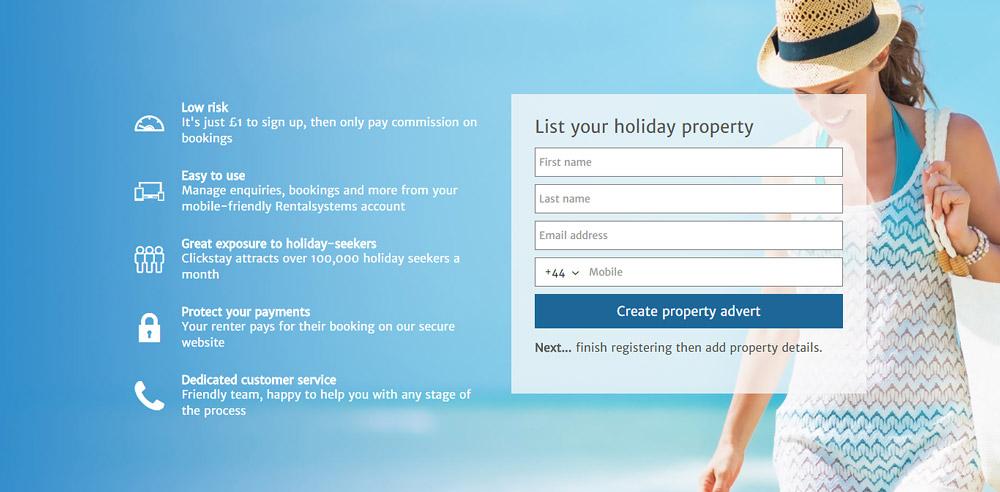 Holiday rental company