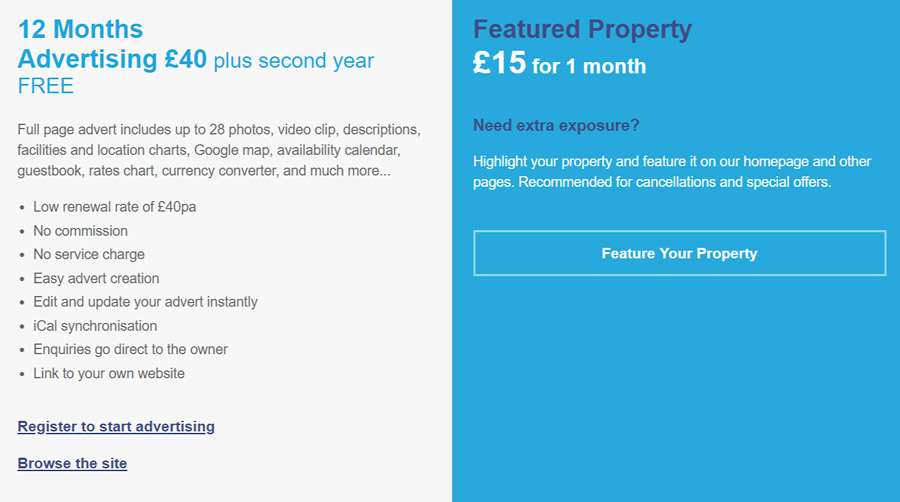 Advertise your holiday home