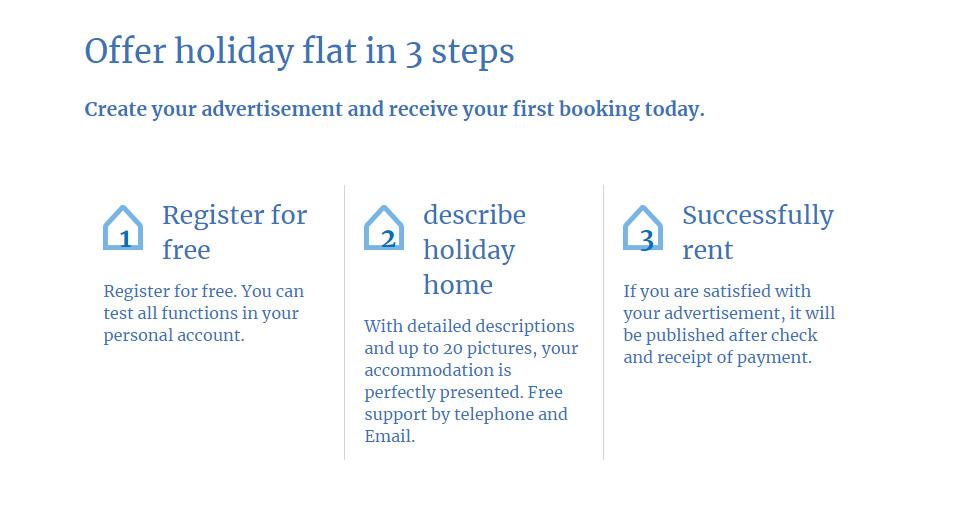 Holiday rentals website