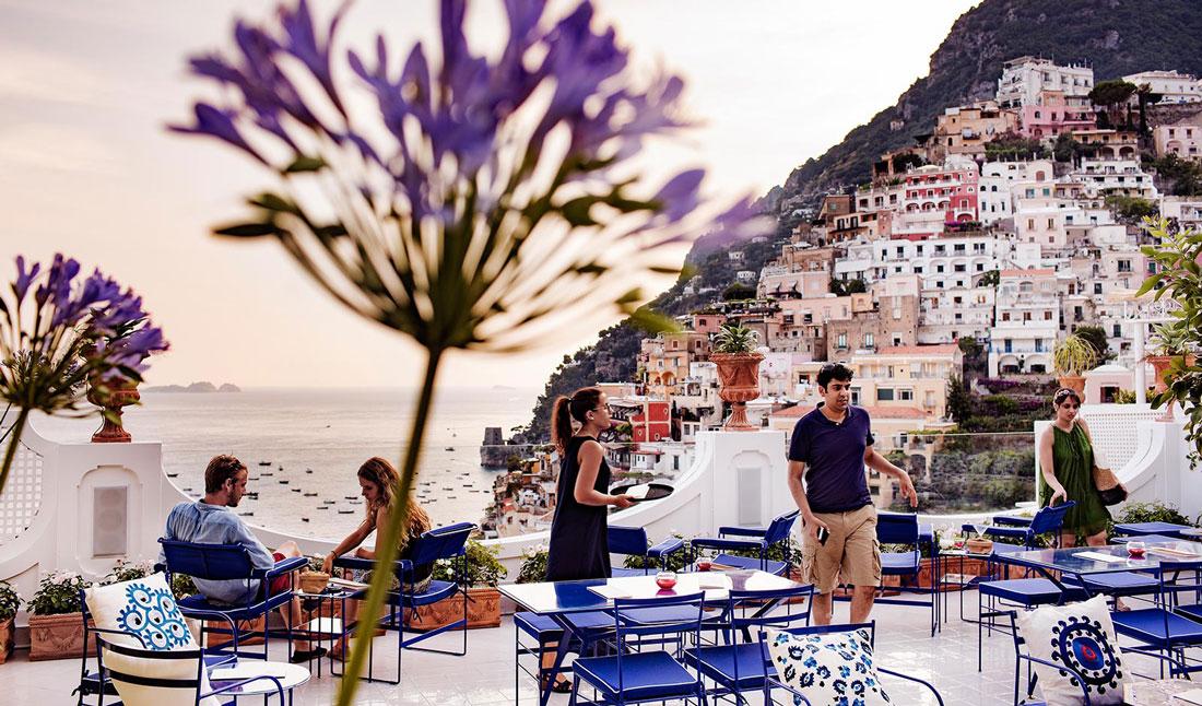 Romantic open-air terrace