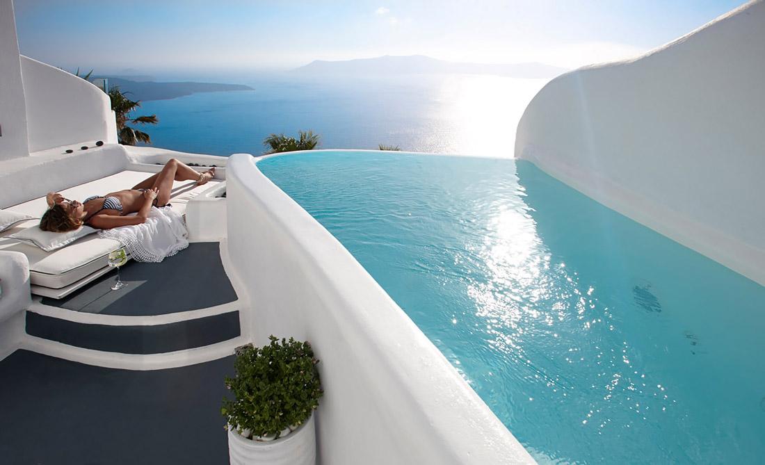 Cliffside villa in Santorini