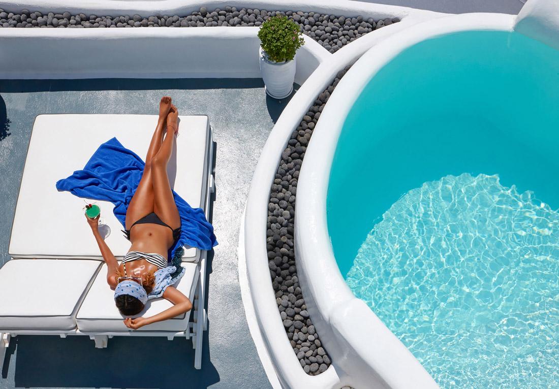 Vacation in Santorini
