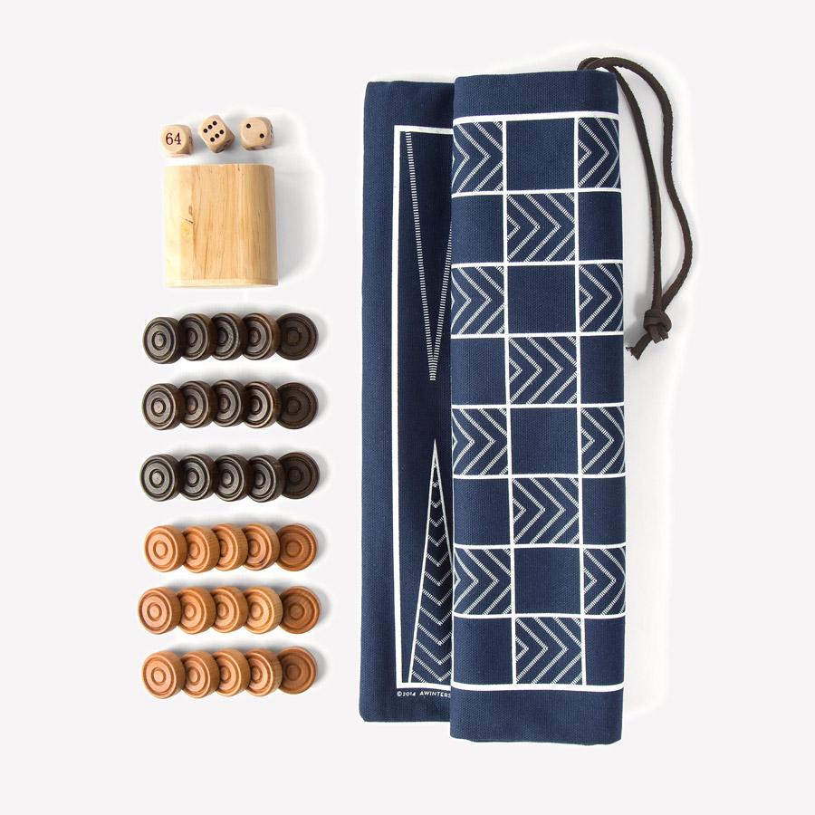 Backgammon & Checkers Game Set