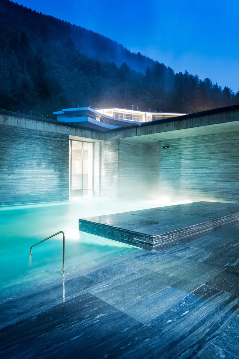 Ice pool in Switzerland