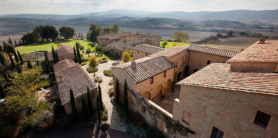 Borgo turned hotel in Italy