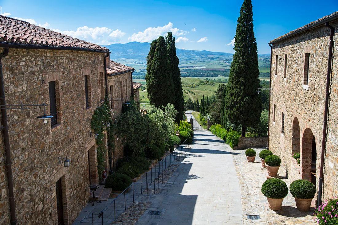 Stone hamlet in Siena