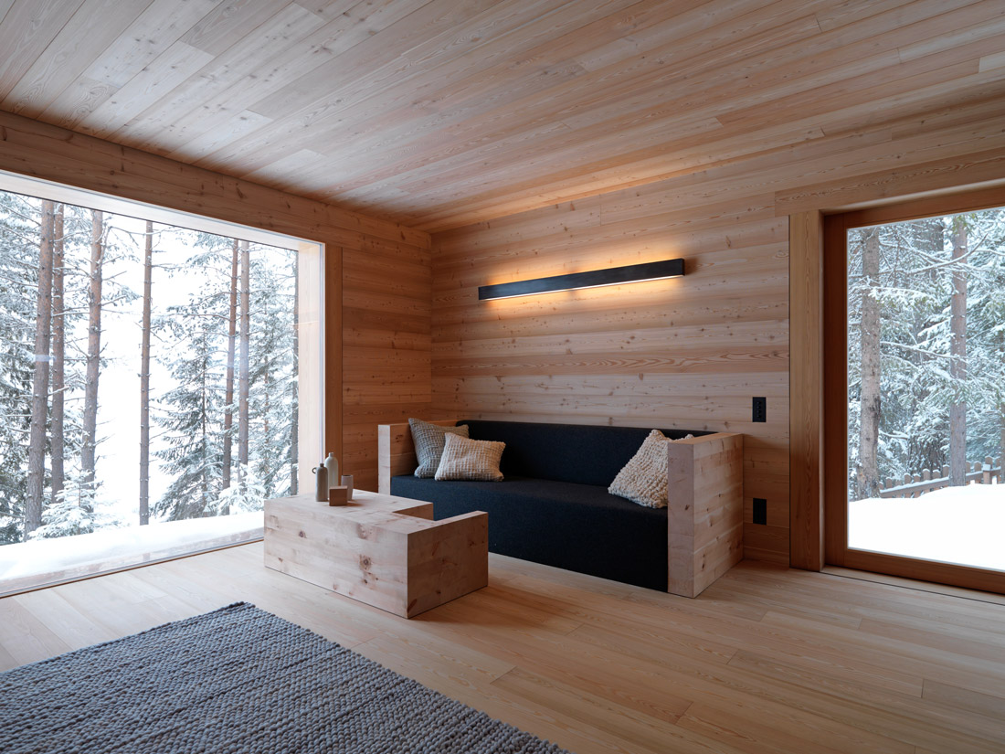 Living room with oversized windows