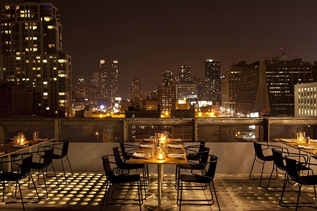 Rooftop restaurant near Chelsea Park