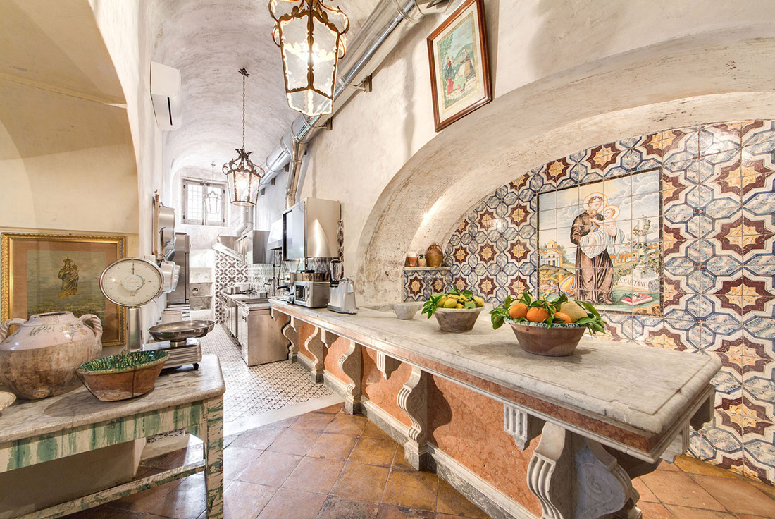Traditional kitchen in Italy