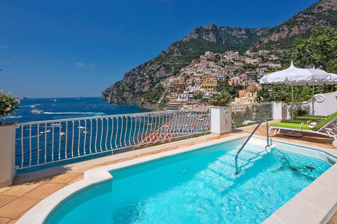 Hilltop villa in Positano