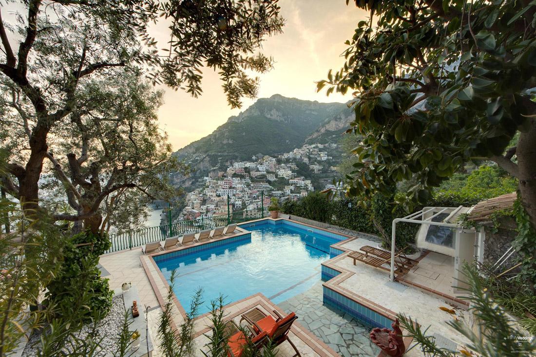 Clifftop villa in Positano