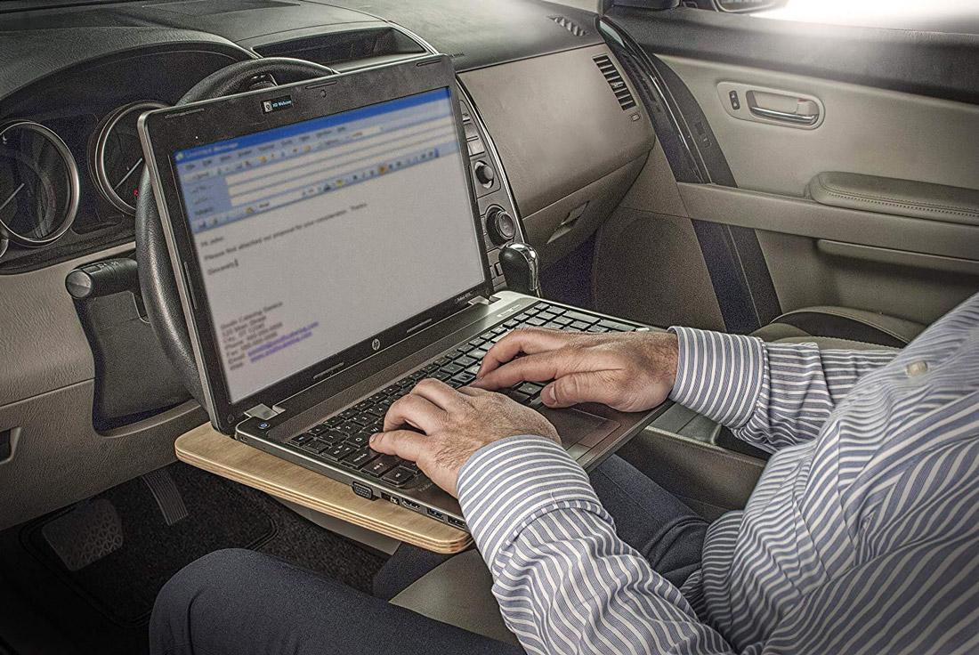 Vehicle desk
