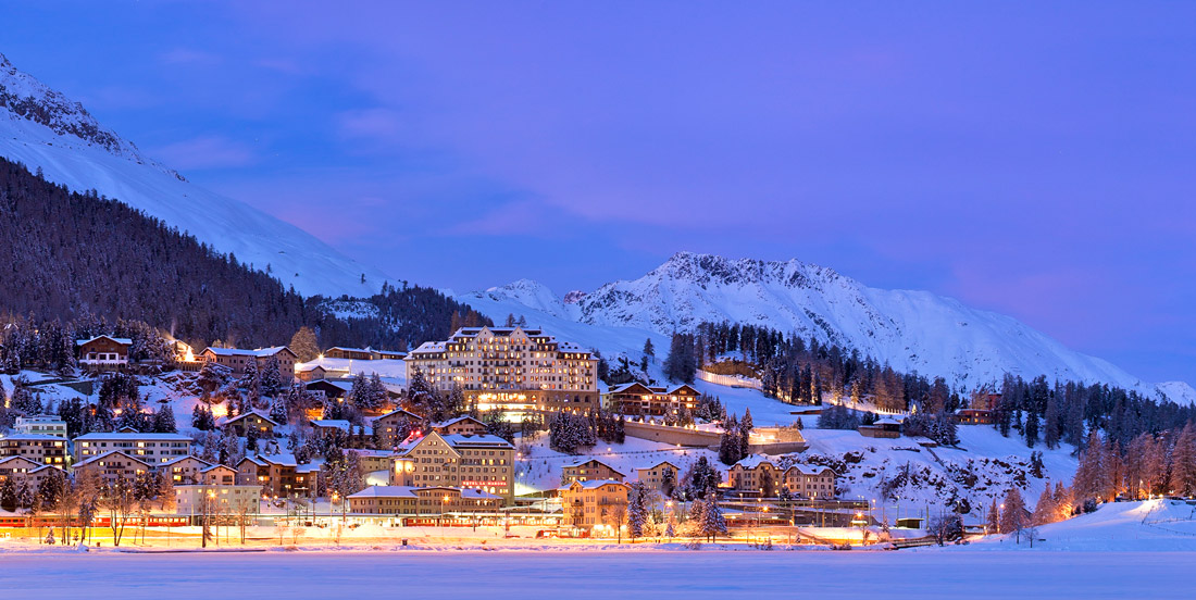 Winter night in St. Moritz