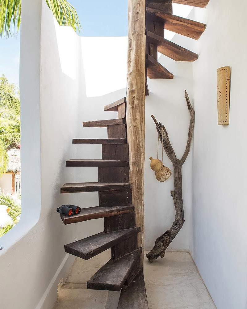 Handcrafted spiral staircase