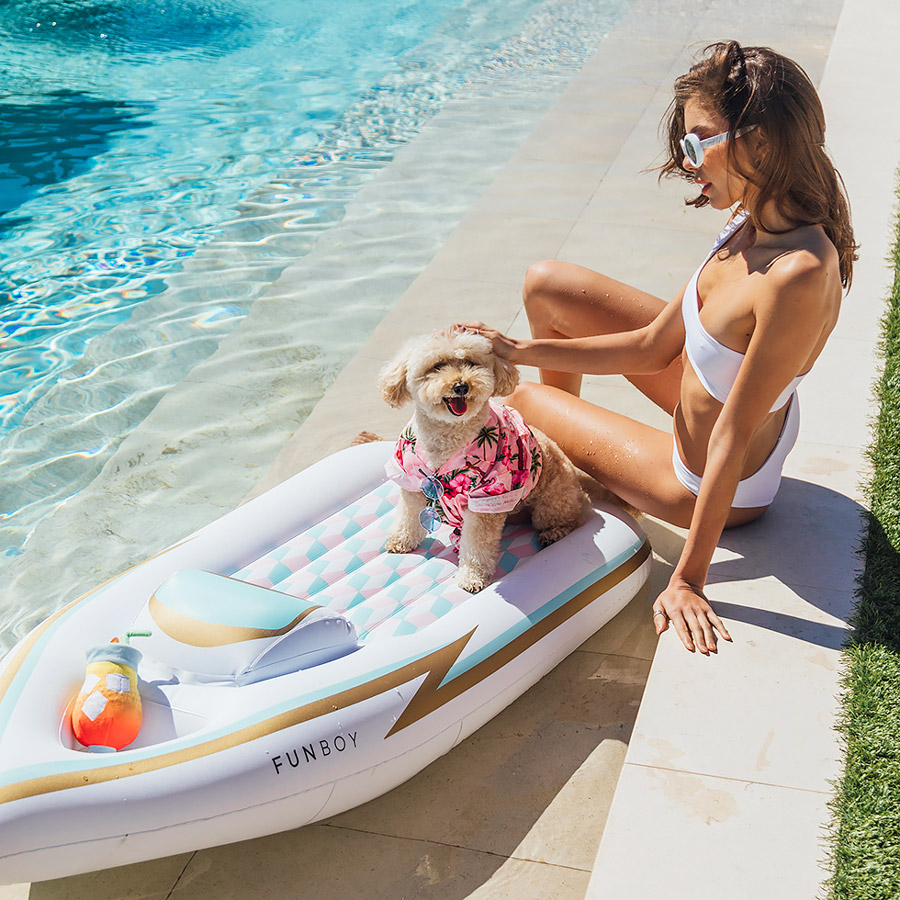 Inflatable boat for dogs