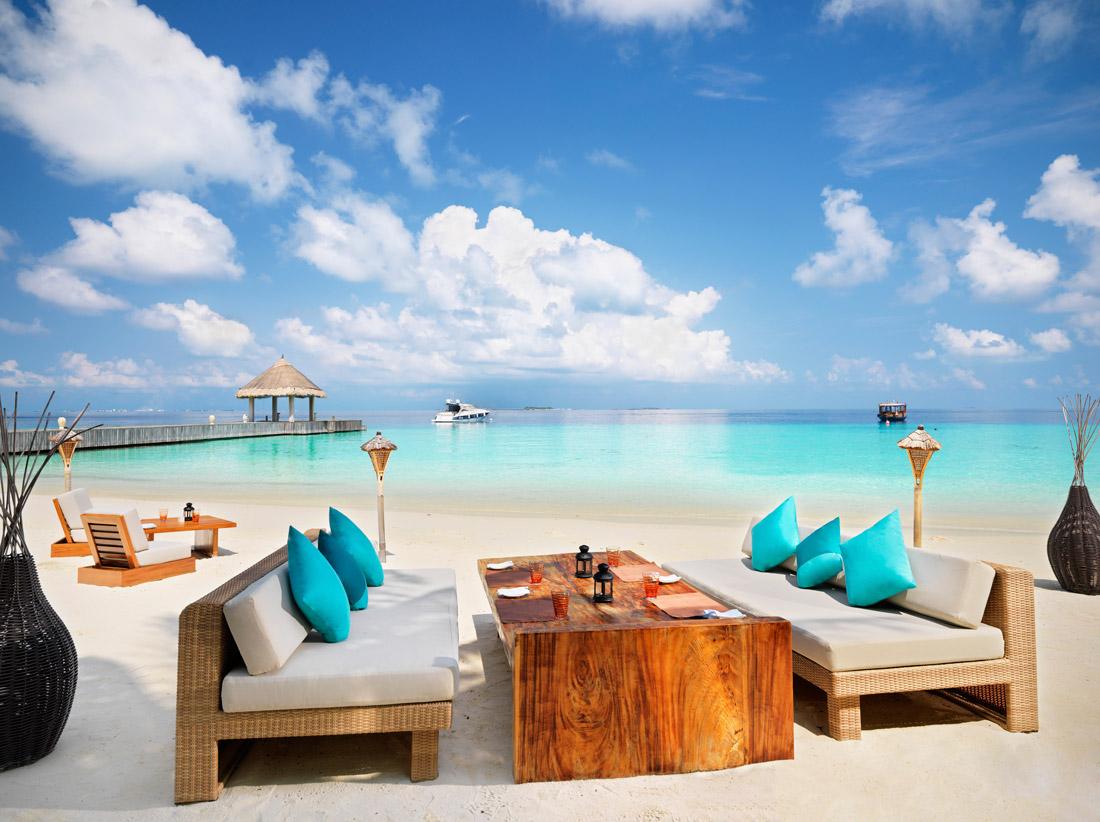 Beach bar in the Maldives