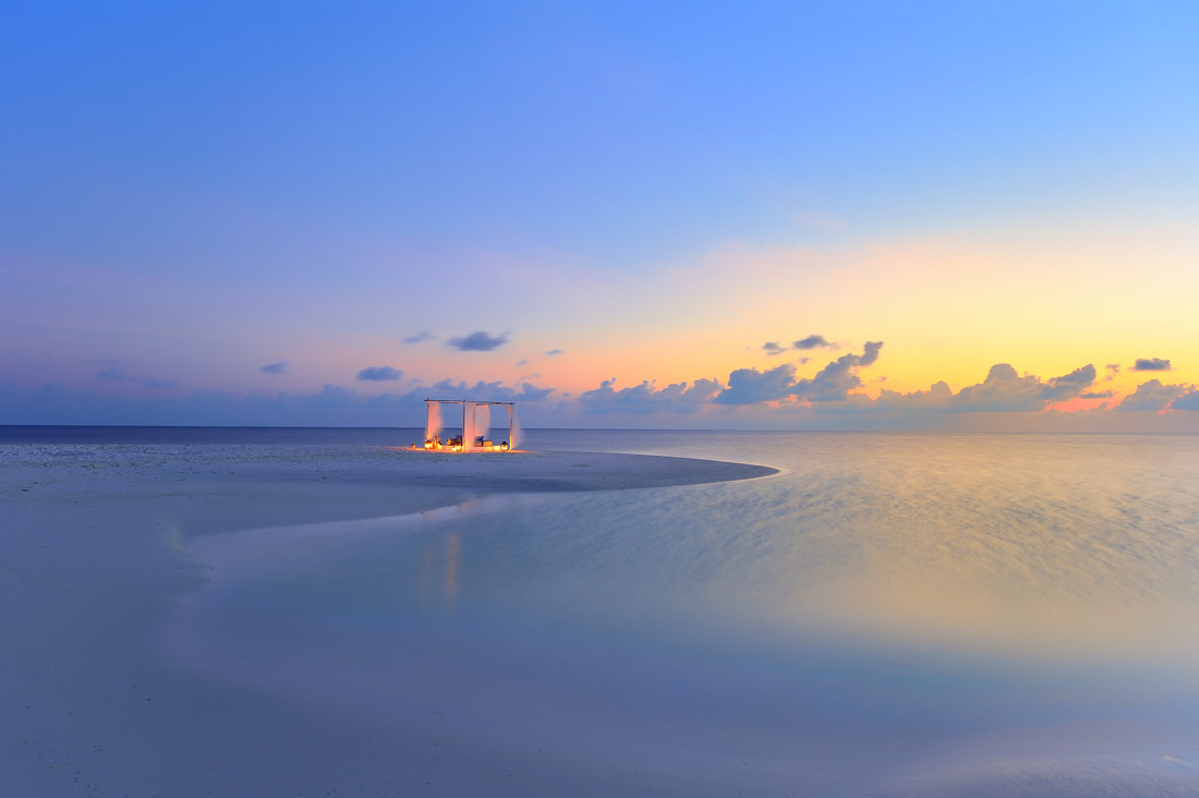 Deserted beach in Asia