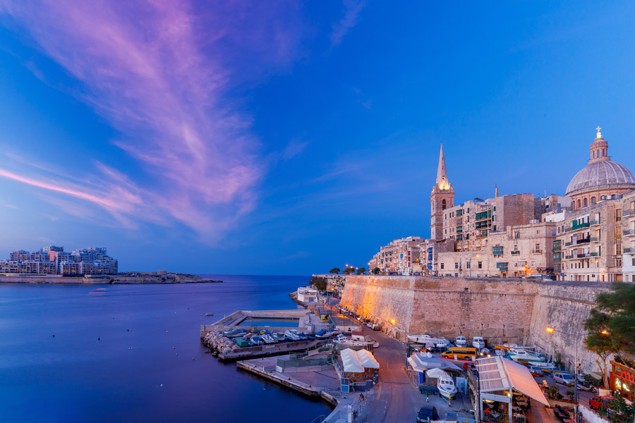 Blue hour in Valletta