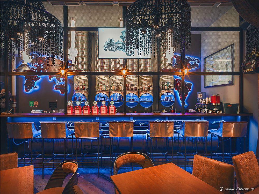 Futuristic bar design