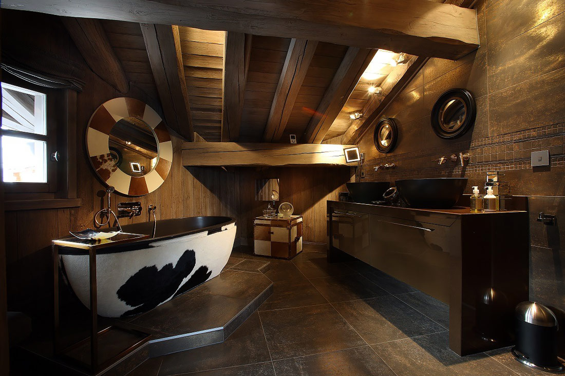 Alpine-theme designed bathroom
