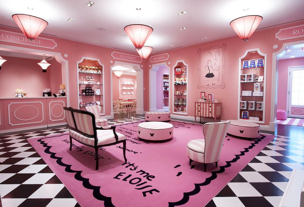 Pink room for kids