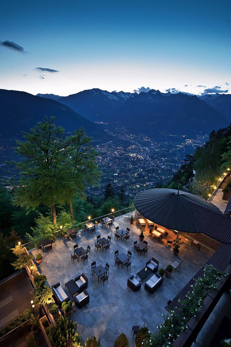 Panorama restaurant in Merano