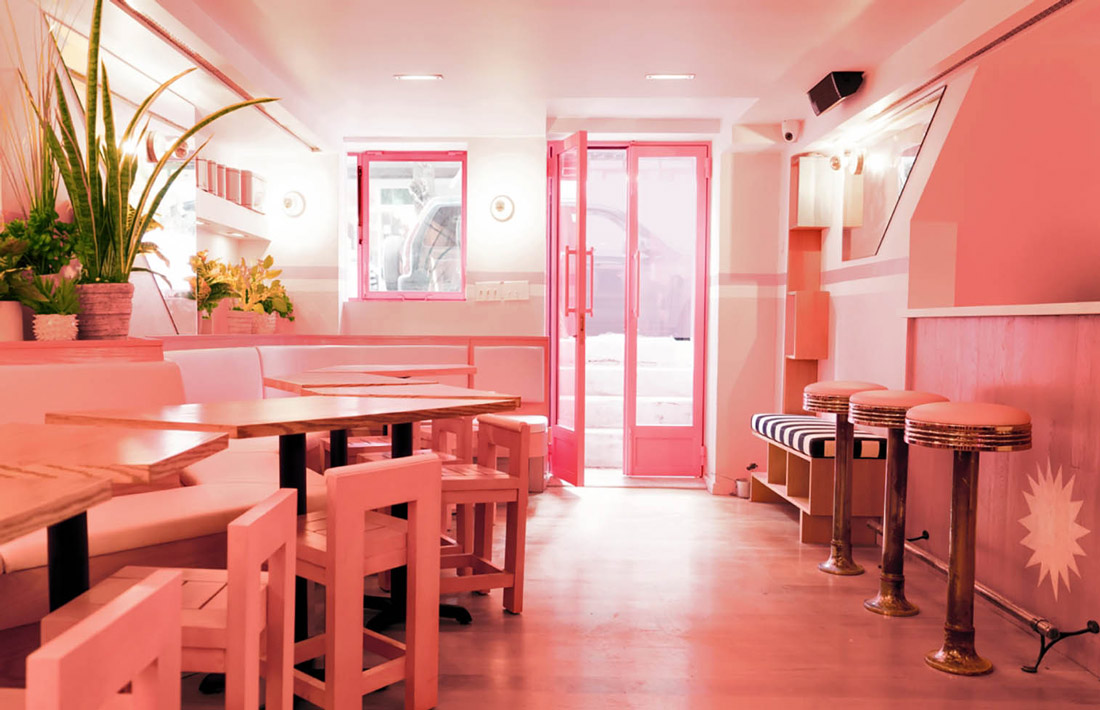 Pink restaurant in NYC